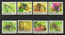 Singapore 1986 Insects Redrawn VF MNH (453a-460a)