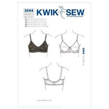 "KWIK SEW SEWING PATTERN MISSSES' BRA SIZES 32 - 40""  CUPS AA - DDD K3594"