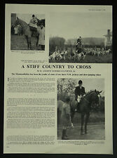 Monmouthshire Hunt George Holder Huntsman 1960 2 Page Photo Article