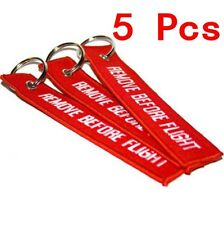 5X Red Linen Lanyard Remove Before Flight Pilot Bag Luggage Tag Keychain Pendant