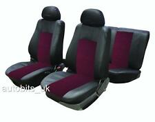 RED BLACK FABRIC FULL CAR SEAT COVER SET FOR MITSUBISHI SHOGUN SPORT 1996-2006