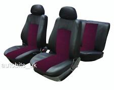 FULL SEAT COVERS SET PROTECTORS RED BLACK FOR VW TIGUAN CADDY PASSAT BORA POLO