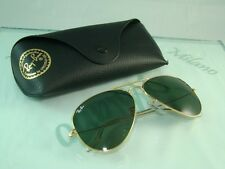 RAY BAN RB 3025 L0205 Arista GOLD AVAITOR SUNGLASSES Size 58