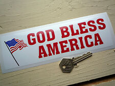 "GOD BLESS AMERICA Sticker 8"" Classic American Car PickUp Retro 60s Americana USA"
