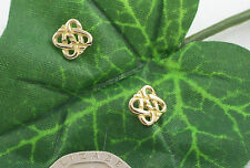 Sassi CG85 Ladies 375 9ct Yellow Gold Celtic Knot Stud Earrings