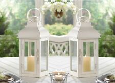 "Gable Medium White Candle Lantern 12 3/4"" (Set of Six) Wedding Supplies 10015996"