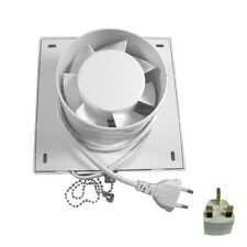 "4"" Square Exhaust Fan Extractor Ventilation Fan For Bathroom Kitchen Wall Window"