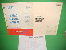 1967 CAMARO CHEVELLE SS FIREBIRD DELCO FM STEREO ADAPTER RADIO SERVICE MANUAL 67