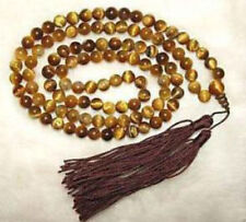Tibetan 108 Tiger Eye Prayer Buddha Bead Necklace 8mm