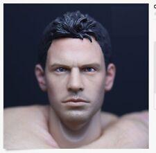 Custom Chris Redfield 1/6 Head Sculpt Resident Evil for Hot Toys Muscular Body