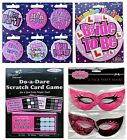 Hen Party Bride To Be Accessories Badges Scratch cards masks