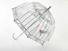 Lulu Guinness Designer Clear 'Birdcage' Birdcage Dome Umbrella - Best Seller!