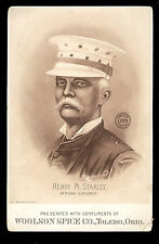 WOOLSON SPICE CO, PHOTO-LITHO TRADE CARD, THE EXPLORER STANLEY, FREE SHIP TC999