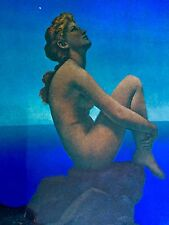 Maxfield Parrish Sexy Nude In Period Carved Frame LOOK!