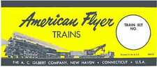 SET BOX LABEL M3118 ADHESIVE STICKER for American Flyer S Gauge Trains
