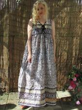 BEAUTIFUL INDIAN GAUZE VTG STYLE MAXI DRESS SZ 12/14 HIPPY BOHO FESTIVAL