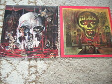2 LP S  SLAYER - SEASONS IN  THE ABYSS -SOUTH OF HEAVEN -