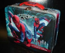 Amazing SPIDER-MAN movie WALL CRAWLER METAL CARRY ALL tin storage box lunchbox