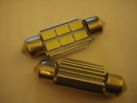 2 6 SMD 36mm canbus LED White interior roof light festoon number plate bulbs CW5