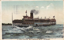 * STEAMSHIP - Lachine Rapids, St.Lawrence, Montreal 1923