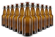16 OZ AMBER E.Z. CAP BOTTLES 12/CASE SWING-TOP SODA 16oz FLIP TOP EZCAP GROLSCH