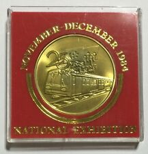 Singapore National Exhibition Nov-Dec 1984 25 Yrs Of Nation Building Medal.