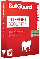 BullGuard Internet Security 2017 (v17) 3 PCs Users 1 Year Sealed DVD Retail Box