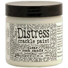Ranger Distress Crackle Paint Clear Rock Candy finish 4oz 118mL