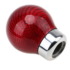 Red Carbon Fiber Ball Shape Universal Car Gear Shift Knob Shifter Lever Cover#