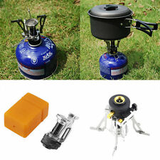Folding Mini Camping Survival Cooking Furnace Stove Gas Burner Outdoor FE