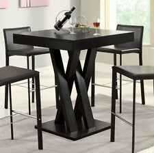 Tall Kitchen Tables Breakfast Bar Height Dining High Top Modern Pub Brown Unique