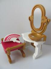 Playmobil Victorian dollshouse/palace furniture: Dressing table, stool & fan NEW