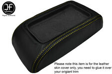 YELLOW STITCH LEATHER ARMREST LID SKIN COVER FITS LANDROVER FREELANDER MK1 98-06