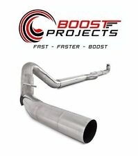 "MBRP 4"" Down Pipe Back, EC/CC Off Road  Single, T409 Chev/GMC 2500/3500 S6004SLM"