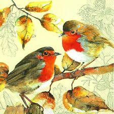 RED ROBIN´S DUETT christmas birds Robin 3 ply paper lunch napkins new 20 in pack