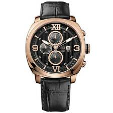 New Tommy Hilfiger Multi-Function Leather Rose Gold Men Watch 45mm 1790969 $175