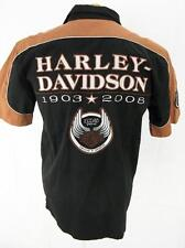 Mens Harley Davidson Motorcycle 105 Years Biker Cotton Button Shirt M Medium
