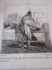 Caricature Litho 1863 Beaux jour Prusse le beurre à l'instar des pommes de terre