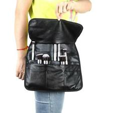 21 Pockets Cosmetic Makeup Brush Bag Apron with Make up Artist Belt Strap Black