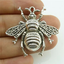 13964*7PCS Alloy Large Bees Insect Pendant Charms Jewelry Making Vintage Silver