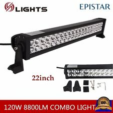 "120W 22"" Led Spot Flood Work Bar Diving Light Lamp Off Road 4WD Boat SUV Vehiles"