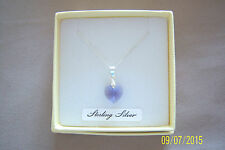 "TANZANITE CRYSTAL HEART PENDANT ON AN 18"" STERLING SILVER 925 CHAIN BRAND NEW"