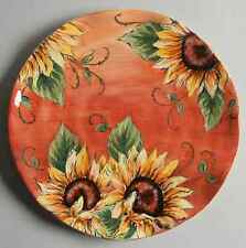Maxcera Corp SUNSET SUNFLOWER Dinner Plate 8984284