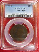 1795 Plain Edge Large Cent PCGS AG 03 Cert# 29190986