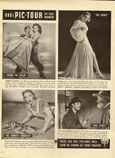 1947 Vintage ad for RKO's PIC-TOUR of the month`Loretta Young, Laraine Day