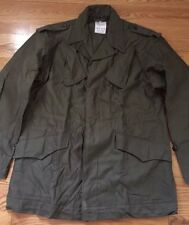 Vintage DUTCH MILITARY Holland Army OD Green 100% Cotton Field Coat Jacket.