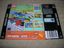 LEGO RACERS – PS1 PAL Rear Box Art Insert Only