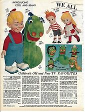 1962 Wards Christmas catalog page Beany and Cecil Mattel Talking dolls Matty