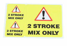 2 Stroke Fuel Mix Sticker - Warning Label - 3 Stickers per sheet x 3 Sheets