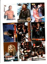 Raven Wrestling Lot of 9 Different Trading Cards WWE TNA R-B1